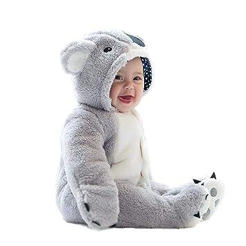 per Rompers Bebés Recién Nacidos Pijamas Bebés de Una Pieza Saco de Dormir Infantil Mamelucos Invierno Espesado para Bebés de 0-12Meses: Amazon.es: Hogar
