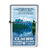 Wind Proof Dual Torch Refillable Lighter Vintage Poster D-033 Glacier National Park