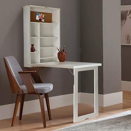 Wall Mounted Floating Desk Cabinet Multi Function With Storage Shelves Computer Desks Folding Desk Writing Desk