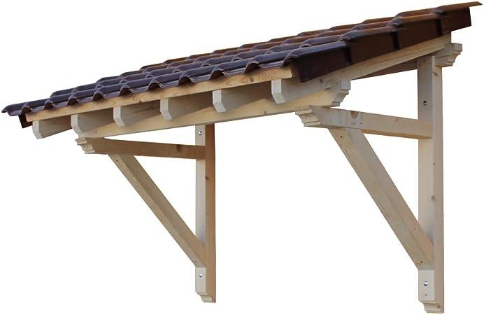 9x9 cm //// Unbehandelt H.A.P PREMIUM Holz Vordach Pultvordach Haust/ür T/ür /Überdachung //// BREITE NATUR Sparren 6 x 6 x 110 cm //// Balkenst/ärke 300 cm //// TIEFE
