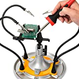 QuadHand Flex Plus- Helping Hands Soldering Tool Add On for your Panavise - Add Four Flexible Metal Arms with Magnetic Bases to Your Favorite PanaVise Soldering Station