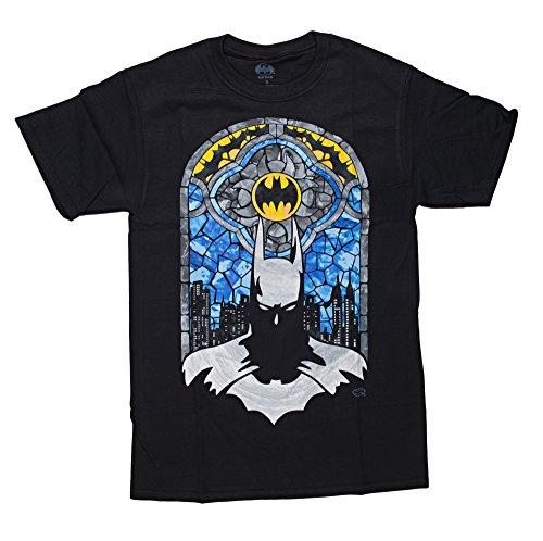 DC Comics Batman Stained Glass Men's Black Shirt