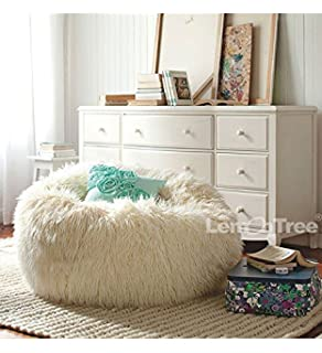 Big Size Faux Fur 01 Furniture Sofa Adault Bean Bag Chair Cover Sapateira Korss Lounger