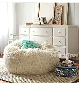 Big Size Faux Fur 01 Furniture Sofa Adault Bean Bag Chair Cover Sapateira Korss Lounger