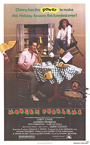 (MODERN PROBLEMS (1981) Original Authentic Movie Poster - 27x41 One Sheet - Single-Sided - FOLDED - Chevy Chase - Patti D'Arbanville - Danny Coleman - Mary Kay Place )