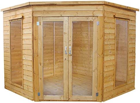 Waltons - Caseta de Esquina de madera para verano, con solapado ...