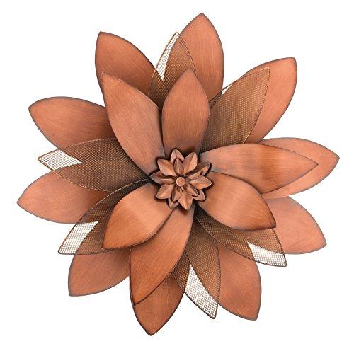 Regal Art & Gift 11835 Copper Flower Decorative Wall Art (Copper Decor Outdoor)