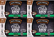 JAVA HOUSE Cold Brew Coffee, DECAF Medium Roast Coffee Concentrate Liquid Pods - 1.35 Fluid Ounces (12 Count)