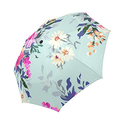 Umbrellas Painted Hand (your-fantasia Custom Beautiful Hand Painted Floral Auto Open Close Folding Waterproof Fabric Travel Umbrella)
