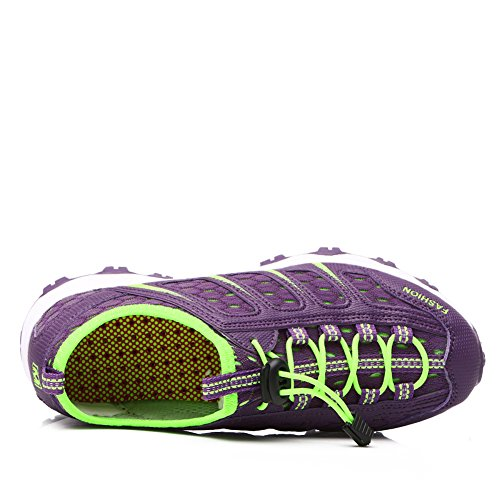 Breathable Women Shoes Gomnear Purple Sneakers on Summer Slip Sport BEwwdZtq