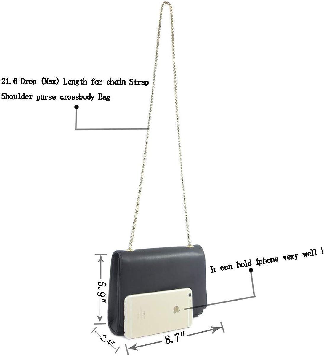 Lotsya Large Capacity Purse with Metal Lock Leather Crossbody Bag Black