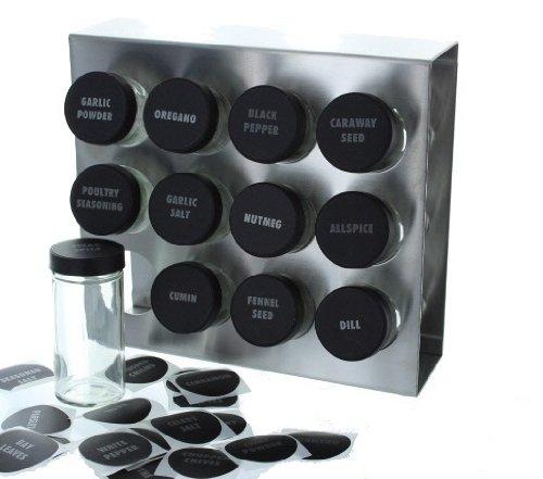 Kitchen Prodyne Stainless Steel Spice Rack spice racks