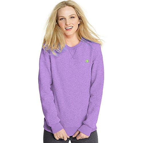 Hanes 7651 Eco Fleece Women's Crewneck Mountain Lilac Heather Size - S