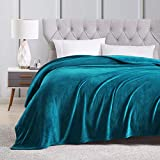 EXQ Home King Size Teal Fleece Blanket Cozy Microfiber Luxury Flannel Throw Blankets for Bed(Lightweight,Super Soft&Warm,Non Shedding)