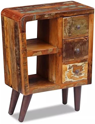 H.BETTER Sideboard Solid Wood Side Cabinet Storage Cabinet 23.6″x11.8″x31.5″ Fully Handmade