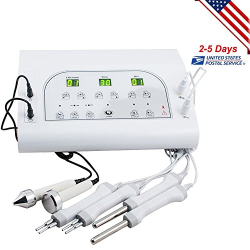 Funwill Shipping from USA BIO Microcurrent Facial Spa Electrotherapy Beauty Machine 3MHZ Spa Face Women Equipment Skin Lift Handle Improve Electric by Funwill