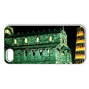 Tower of Pisa, Italy - Case Cover for iPhone 5 and 5S (Medieval Series, Watercolor style, White)