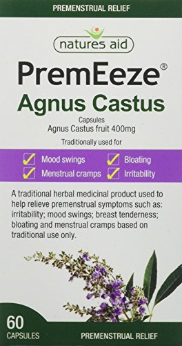 Natures Aid PremEeze Agnus Castus, Vegan Society Approved, 400 mg, 60...