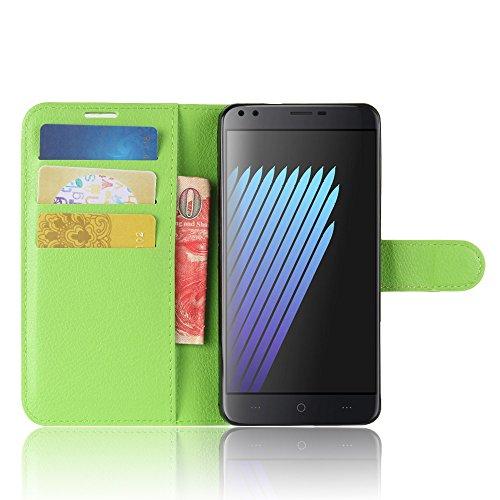 Qiaogle Teléfono Case - Funda de PU Cuero Billetera Clamshell Carcasa Cover para Blackview A7 Pro (5.0 Pulgadas) - FC07 / Verde Moda Elegante estilo FC07 / Verde Moda Elegante estilo
