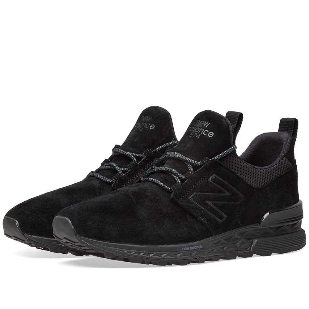 New - Balance - - Männer MS574 Schuhe, 37.5 EUR - New Width D, schwarz 3c8aba