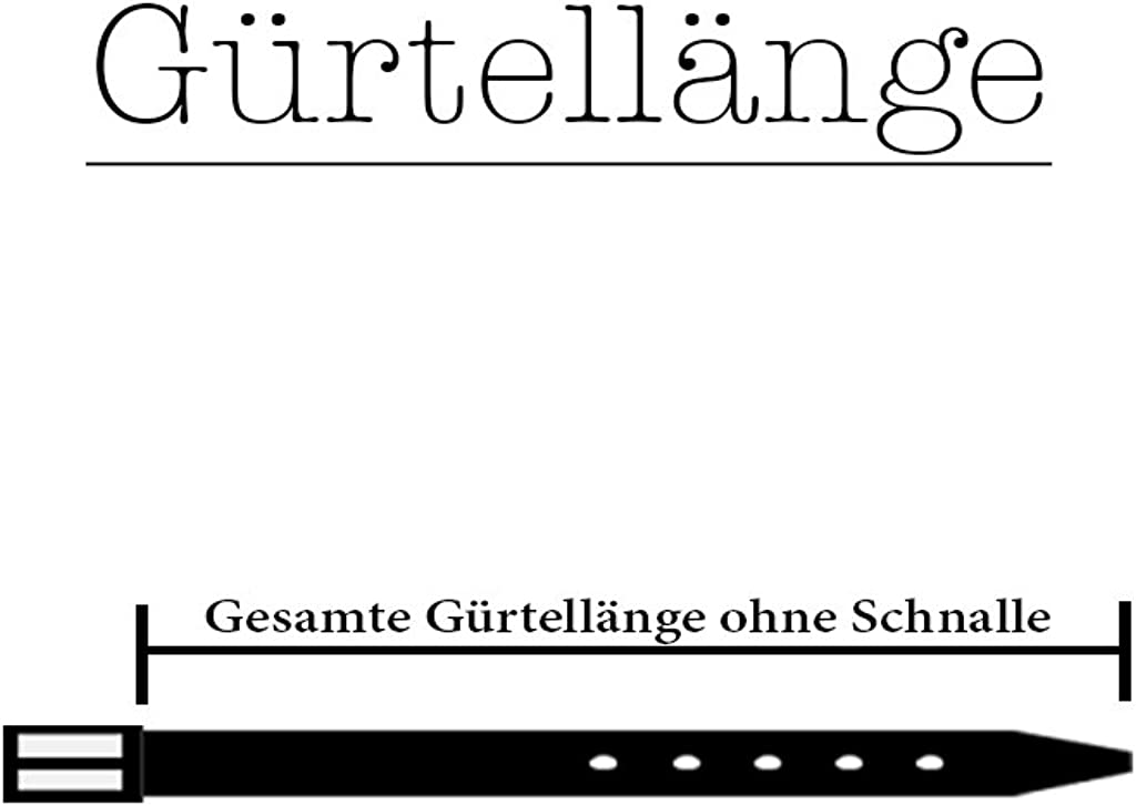 Jeansg/ürtel Vollleder G/ürtel Made in Germany 5 cm Mode Hoseng/ürtel B/üffelleder Vascavi Lederg/ürtel ca