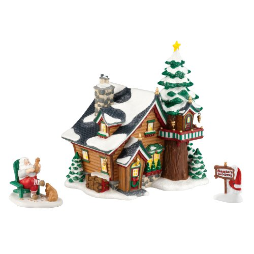 Department 56 North Pole Village 2011 Annual Holiday Set Santa s Get-Away Set of 2