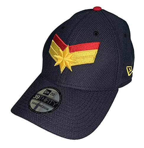 - Captain Marvel Symbol New Era 39Thirty Fitted Hat Cap (Medium/Large)