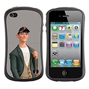 Be-Star Colorful Printed Design Anti-Shock Iface First Class Tpu Case Bumper Cover For Apple iPhone 4 / iPhone 4S ( boy cute friendly art drawing casual fashion ) Kimberly Kurzendoerfer