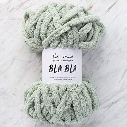 1 madeja La Mia Bla Bla, lana para manta de bebé, 100% poliéster, 7 oz (200 g) / 41,5 yardas (38 m), peso del hilo: 7 Jumbo: Amazon.es: Juguetes y juegos