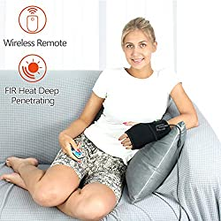CREATRILL Infrared Heating Pad for Hand & Wrist Pain Relief, Auto Shut Off Far Infrared Therapy Electric Heated Wrap Brace for Carpal tunnel syndrome, Arthritis, Tendonitis, Joint Pain Soreness, Cramp