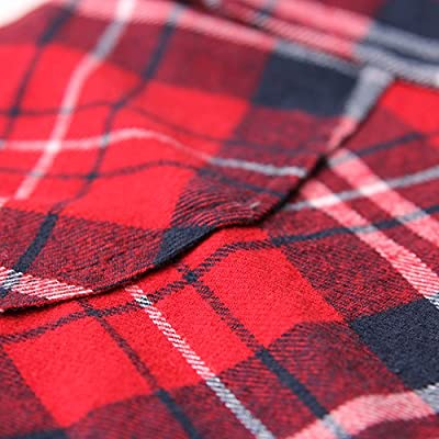 Women's Mid-Long Style Roll-Up Sleeve Plaid Flannel Shirt