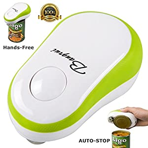 Bangrui Smooth Edge Electric Can Opener--One Button Start & Auto-Stop(Green)