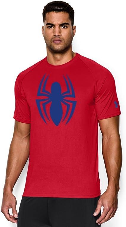 Verdulero Fahrenheit Ejército  Amazon.com: Under Armour Men's Alter Ego Spider-Man T-Shirt XX-Large Red:  Clothing
