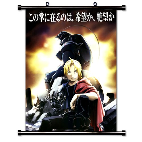 Fullmetal Alchemist Anime Fabric Wall Scroll Poster  Inches