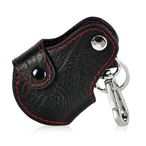 Genuine Leather Remote Key Chain Holder Case Cover Fob for BMW Mini Cooper R55 R56 R57 (Universal Mini Cooper)
