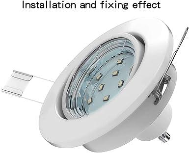 Bluexp 20 Stück 55mm Led Scheinwerfer Scheinwerfer Haltefeder Clip Dip Abblendlichts Kopf Lampen Birnen Haltefeder Clip Clamp Beleuchtung