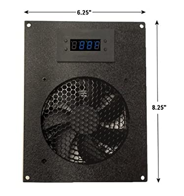 Coolerguys Thermal Controlled Single 120mm USB Fan Kit with Display