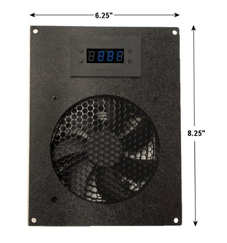 Coolerguys Thermal Controlled Single 120mm USB Fan Kit with Display (Exhaust Fan Quiet Deluxe)