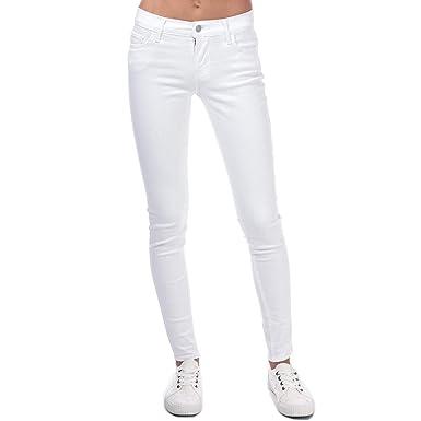 Pantalon Levis 710 Innovation Skinny Blanco Mujer