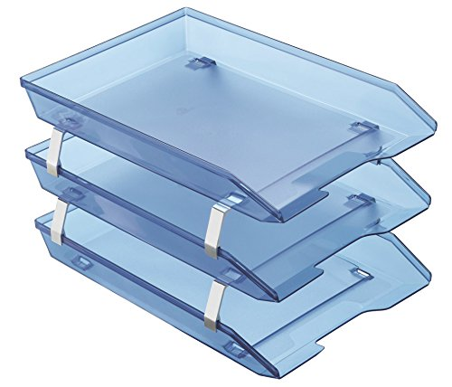 Acrimet Facility Triple Letter Tray Frontal (Clear Blue Color)