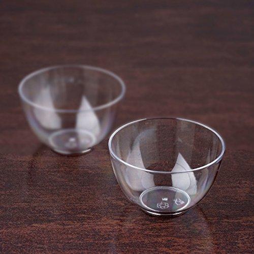 Efavormart 120 Pcs- Clear Mini Petite Round 2oz Disposable Plastic Dessert Bowl