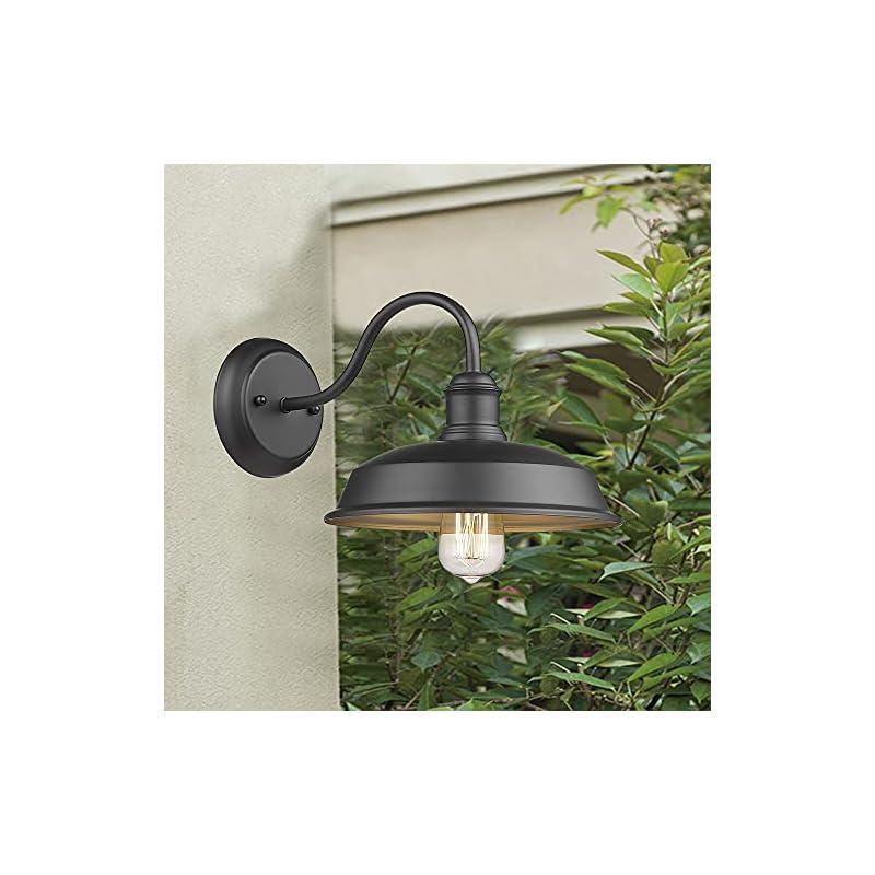 Redeast Farmhouse Outdoor Lights, Gooseneck Barn Light, Outdoor Wall Sconces, Exterior Wall Mount Lights, Industrial…