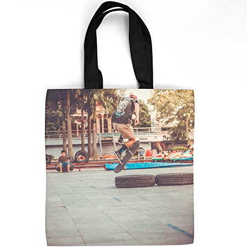 Westlake Art - Urban Area - Tote Bag - Fashionable Picture Photography Shopping Travel Gym Work School - 16x16 Inch (08631) ()
