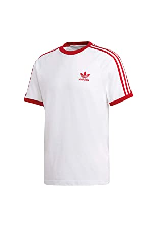 7286081d75f995 adidas Originals T-Shirt Herren 3-Stripes Tee DY1533 Weiss Rot ...