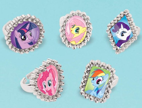 My Little Pony Costume For Boys (American Greetings My Little Pony Jewel Rings, 18 Count, Party Supplies, Multicolored)