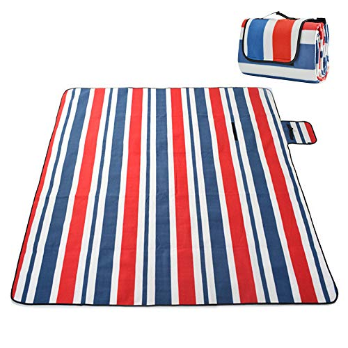 ZOMAKE Large Picnic Blanket Tote Waterproof and Soft for Family Concerts,Park