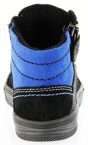 Richter Kinder Halbschuhe Sneaker Schwarz Velourleder Jungen-Schuhe FitMI Warm 6544-831-9901 Black Ola Schwarz
