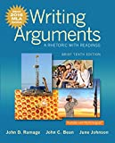 img - for Writing Arguments: A Rhetoric with Readings, Brief Edition, MLA Update Edition (10th Edition) book / textbook / text book