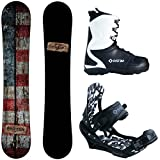Camp Seven Drifter and APX Men's Complete Snowboard Package 2019 New