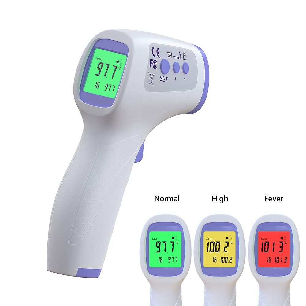 Digital Forehead Thermometer with LCD Display Accurate Instant Readings Kids Baby Non Touch Infrared Forehead Thermometer Adults Non-Contact